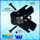 JYJ-2 black vertical welding pipe metal clamp furniture parts