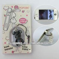 mobile phone bear toy fashion head phone parts holder accessori iphon 4