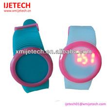 Custom promotional digital silicone led watch