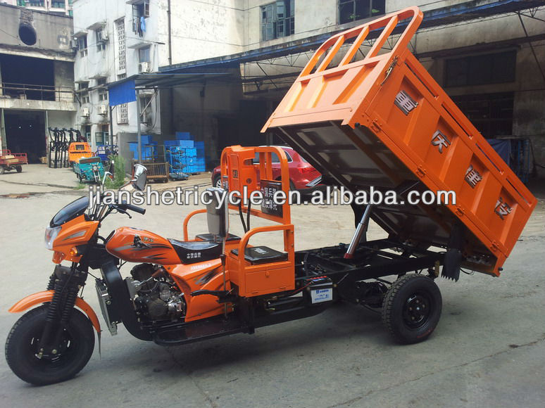TJ-Self dumping three wheel motorcycle for cargo