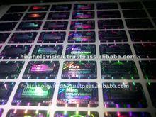 security tamper evident hologram labels and sticker