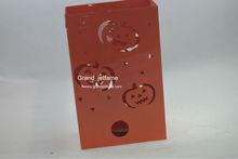 home designs halloween big embossed orange metal holder