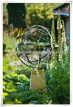 Garden decoration metal steel hollow ball sculpture