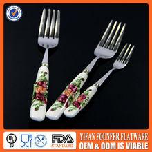 high quality ceramic porcelain handle cutlery set