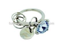 Fashion Crystal metal key chain/key ring