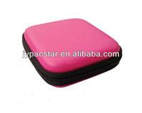 Hard Pink PU Cover small eva Earphone Case