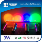 Christmas gift color changing flash and strobe 3W RGB led torch light manufacturers