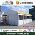 pessoas 60 grande permanente de alumínio da barraca estrutura durável tenda com amarelo telhado para venda