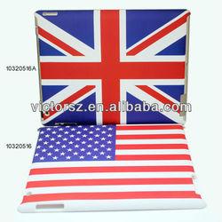 USA flag,UK flag case for apple ipad 4/for ipad 3/for ipad 2 hard pc cover