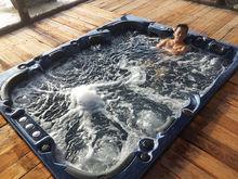 Popular outdoor massage spa Function 8 person bathtub whirlpool china