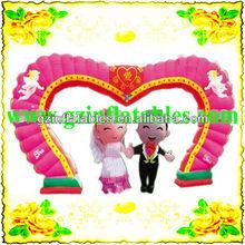 heart inflatable wedding arch& bride bridegroom cartoon model