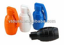 New hand grenade pvc bottle usb flash drive plastic army premiums usb fash drive for promo
