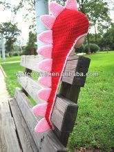 Hand Knit Crochet Newborn dinosaur hat Cape with tail photo prop, Knit Crochet Dinosaur Hat