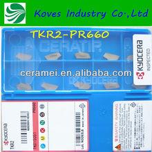 Coating golden color carbide grooving insert scrap for cnc turning carbide TKR2-PR660