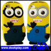 Silicone Rubber Back cover For iPhone 5 iPhone5 3D cute Despicable Me Minions cover