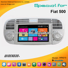 beautiful milkly white car parts dvd player for abarth 500 1 din steering wheel control bt blue&me
