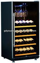 Compressor bottle cabinet storage USZ-72 to display wine in bar