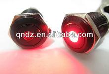 QN16-C3 16mm 12V red Dot LED Metal Black Aluminum FINISHED push button with led