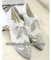 C50158s mais novo estilo coreano NET permeabilidade areia senhoras sapatos baixos