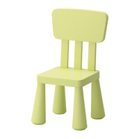 Durable plastic indoor and outdoor use children chair