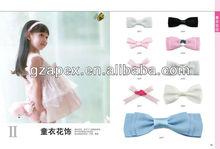 elastic ribbon bow for bra tops floriation/bra accessories