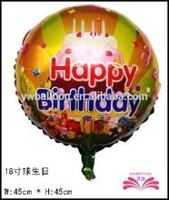 18inch birthday helium foil balloon