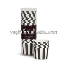 Baking cupcake cups, treat & candy cups Black /White Strips