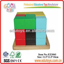 9Pieces Block,Wooden Puzzle,Cube Puzzle