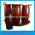 Wooden barrel used bar counter for sale
