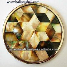 mosaic shell work art crafts inlay glassware