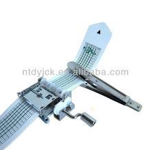 15 note hand crank paper strip music mechanism