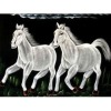 """Indian Traditional Royal Ethnic Horses Wildlife Abstract Tapestry Fabric Wall Decor Velvet Oil Painting Wall Hanging 28"""" X 22"""""""