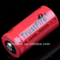 IMR16340 3.7v 700mah battery imr 16340 batteries for Flashlight, E-cig, power tools
