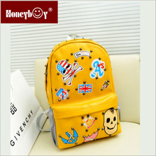 2014 cute printed backpack with multiple patterns