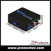 fiber optic converter to rca R/L mini jack audio converter PETDAS