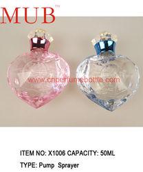 Designer perfumes and fragrance bottle 50ml glass bottles wholesale, pink and light blue