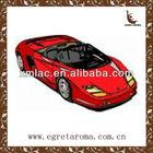 red hot cool car shape hanging car paper air freshener