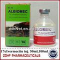 Animais de drogas 1% 100ml ivermectina( stromectol) de injeção