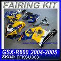 Carenados de motos barato para suzuki gsxr 750 gsxr 600 2004-2005 ffksu003 corona