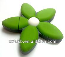 PVC flash drive flower drive shape flower pen for hotel promotional heart shaped usb drive