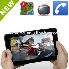 7 inch dual core tablet with 3g sim care slot built in GPS