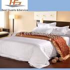 Hopsital Motel hotel satin stripe bed sheet flat sheets wholesale