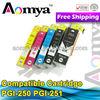 New compatible refill ink cartridge for canon printers PGI250 CLI-251