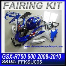Chinese Motorcycles Fairing For SUZUKI GSXR 750 GSXR 600 2008-2010 BLUE FAIRING KIT R FKSU005