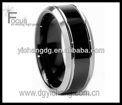 Men's Tungsten Carbide Black-plated Comfort Fit Band