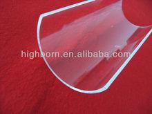 clear heat resistant arch quartz plate