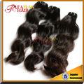 Recién venida Remy grado 5a humano de la virgen del pelo indio, Saga del pelo de Remy extensiones de cabello