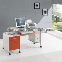 Modern Glass Computer Desk With Wheels