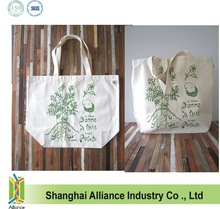 Heavy Duty Canvas Tote Bag - Screen Printed Recycled Cotton Grocery Bag - Large Canvas Shopper Tote - Reusable and Eco Friendly