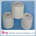 china factory supply bright / semi dull raw white 100% polyester spun yarn for sewing bags